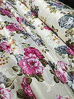 Портьерная жаккардовая ткань с цветами (1,5 м. ширина), фото 1