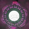 """Світлодіодна LED панель """"Афіни"""" з рожевою підсвічуванням / LM1018 коло"""