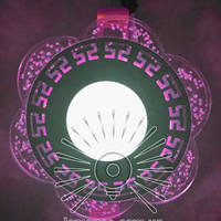"LED панель Lemanso ""Афины"" с розовой подсветкой / LM1018 круг 3+3Вт, фото 1"