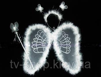 Крылья с пухом,палочка,обруч  Ангел