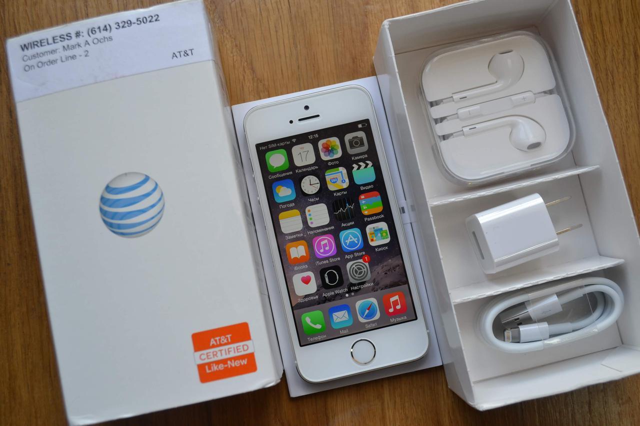 Новый Apple Iphone 5s 16Gb Silver Neverlock Оригинал!