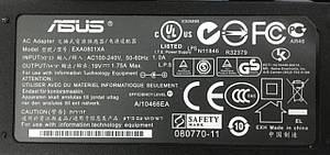 Блок питания для ноутбука Asus 19V 1.75A 33W 4.0 * 1.35, фото 2