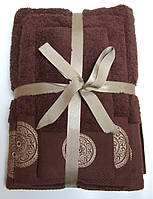 Махровое полотенце Damask, 50*90, 100% хлопок, 550 гр/м2, Пакистан, Шоколад
