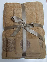 Махровое полотенце Damask, 50*90, 100% хлопок, 550 гр/м2, Пакистан, Беж