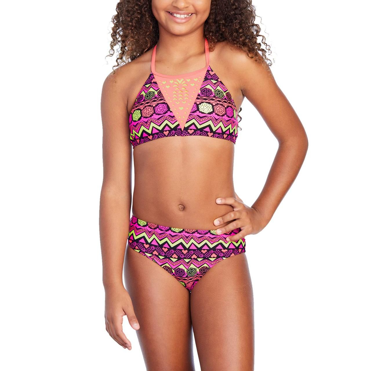 Купальник для девочек США на рост 140-155 см раздельный Coral детские купальники