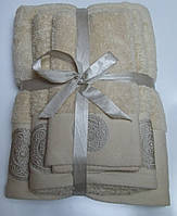 Махровое полотенце Damask, 50*90, 100% хлопок, 550 гр/м2, Пакистан, Ваниль