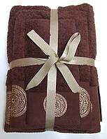 Махровое полотенце Damask, 70*140, 100% хлопок, 550 гр/м2, Пакистан, Шоколад