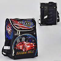 Рюкзак школьный два кармана, спинка ортопедическая, ножки пластиковые Cars N 00157