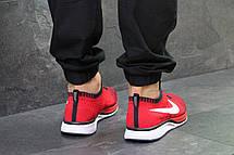 Мужские кроссовки Nike Flyknit Racer,сетка,красные, фото 3