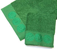 Махровое полотенце Damask, 70*140, 100% хлопок, 550 гр/м2, Пакистан, Зеленый