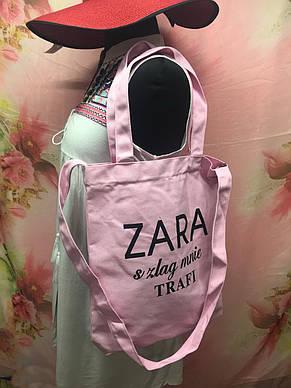 Пляжная женская сумка через плечо под модный бренд ZARA, фото 2