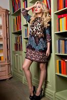 Платье женское свободного кроя с ярким принтом молодежное красивое