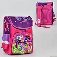 Рюкзак школьный два кармана, спинка ортопедическая, ножки пластиковые Пони N 00171
