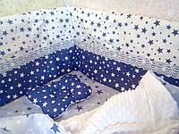 Бортики прямі з кружевом. Ексклюзивний дизайн. ( Защита в детскую кроватку) Детская постель