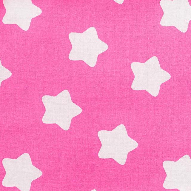 Детская простынь на резинке в кроватку BabySoon хлопок Звезды на розовом 120х60 см