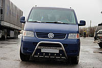 Volkswagen T5 Caravelle 2004-2010 гг. Кенгурятник WT003 (нерж) 60мм, без надписи