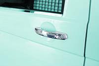 Volkswagen Caddy 2004-2010 гг. Накладки на ручки (нержавейка) 3 штуки, Carmos - Турецкая сталь