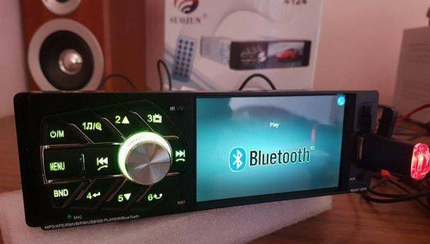 Магнитола Bluetooth, Видео-выход многофункциональная Pioneer 4114 + пульт + камера!