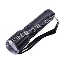 Фонарь ручной металлический Police BL Q 7019 18000W, под руж., zoom, светодиод CREE, питание от аккумулятора