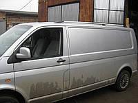 Volkswagen T5 Transporter 2003-2010 гг. Рейлинги Хром Короткая база, Пластиковые ножки