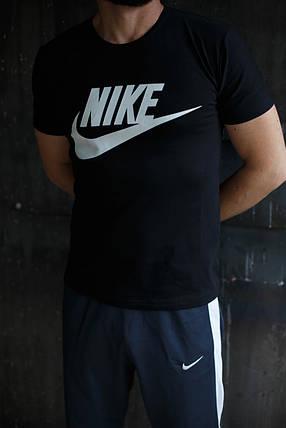 Мужская футболка Nike.Черная , фото 2