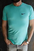 Мужская футболка Nike. Мятный, голубой, синий.