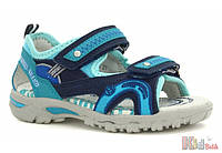 Сандали голубовато-синего цвета для мальчика (38 размер)  Bartek 5904699531485