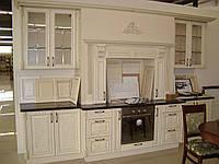 Готовые кухни из дерева, распродажа в Киеве, кухня деревянная с фасадами Drewpol (ясень), длина 3,5м