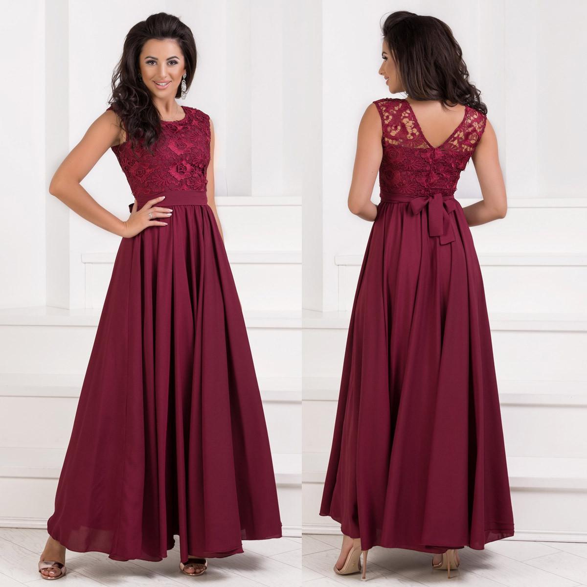 7b4dd8beeb7 Шикарное выпускное длинное вечернее платье марсала размер М