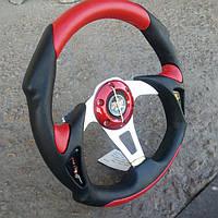 Руль спортивный Momo №570 красного цвета., фото 1