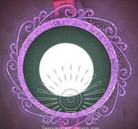 """LED панель Lemanso """"Волна"""" с розовой подсветкой / LM 1016 круг 3+3Вт, фото 1"""