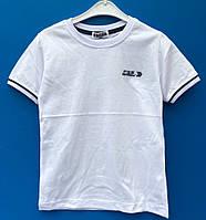 Модная белая  футболка для мальчика 10-16 лет