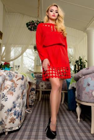 Сукня жіноча червоного кольору ошатне, плаття молодіжне міні