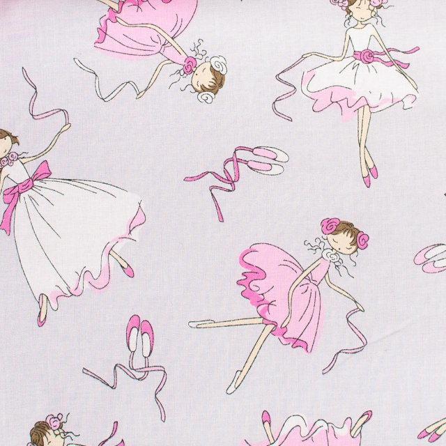 Детская простынь на резинке в кроватку BabySoon хлопок Балерины 120х60 см