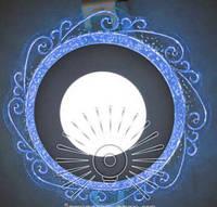 """LED панель Lemanso """"Волна"""" с синей подсветкой / LM 1016 круг 3+3Вт, фото 1"""