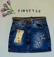 Джинсовая юбка  для девочки рост 110-122 см, фото 1