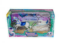 Карета с лошадкой (синее седло) SM3005