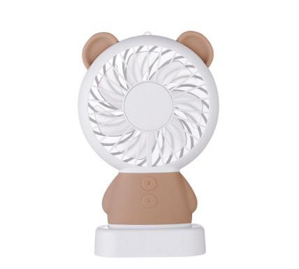 Настольный мини вентилятор SUNROZ MINI FAN c аккумулятором 800 mAh Bear USB Коричневый (SUN0699)