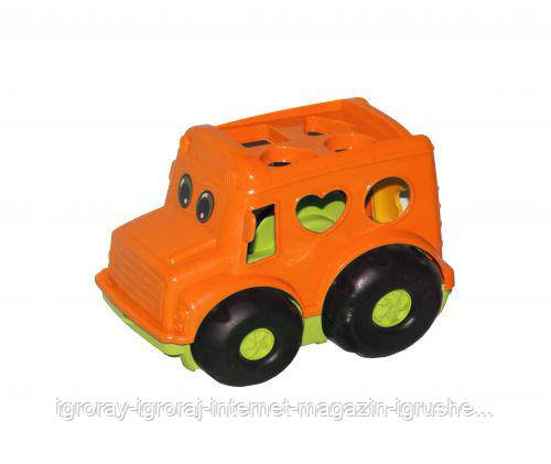 Сортер-автобус Бусик №1 (оранжевый) 0244