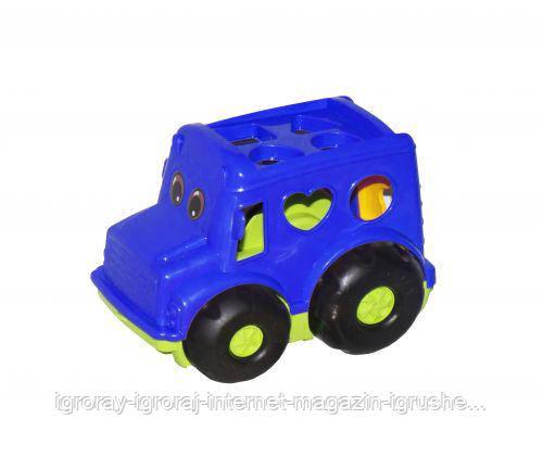 Сортер-автобус Бусик №1 (синий) 0244
