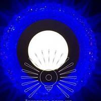 """LED светильник Lemanso """"Вулкан"""" с синей подсветкой / LM 1006 круг 3+3Вт, фото 1"""