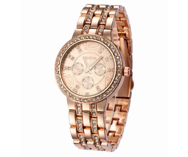 Женские часы Geneva rose-gold - гарантия 6 месяцев