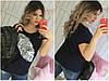 Женская футболка с пером большого размера СЦ28852