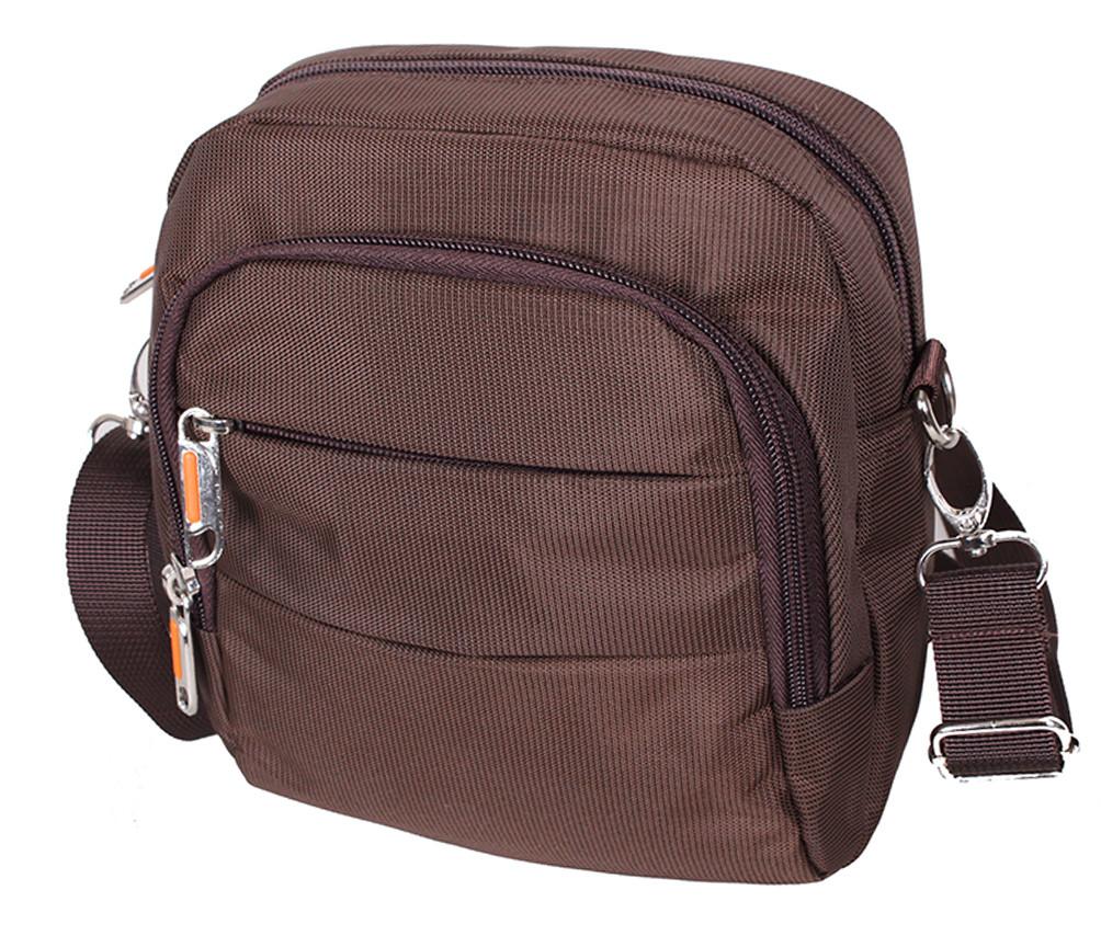 Мужская текстильная сумка 6339-4COFFEE коричневая
