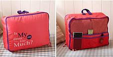 Дорожный набор из 5 сумок-органайзеров, розовый ( сумки органайзеры ), фото 3