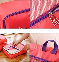 Дорожный набор из 5 сумок-органайзеров, розовый ( сумки органайзеры ), фото 2