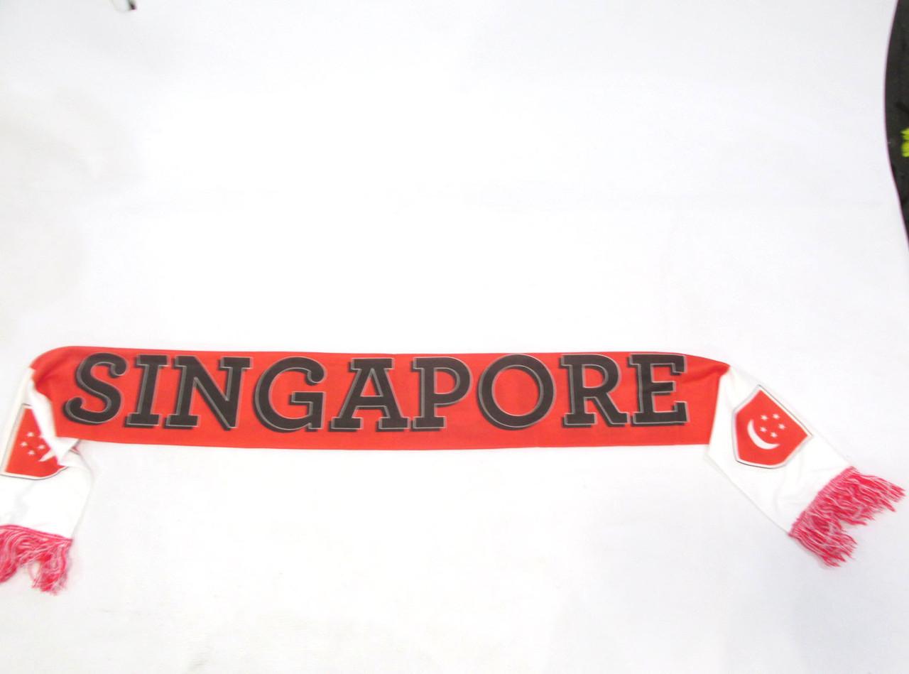 Шарф футбольный Singapore, Polyester, 17х160 см, Как Новый!