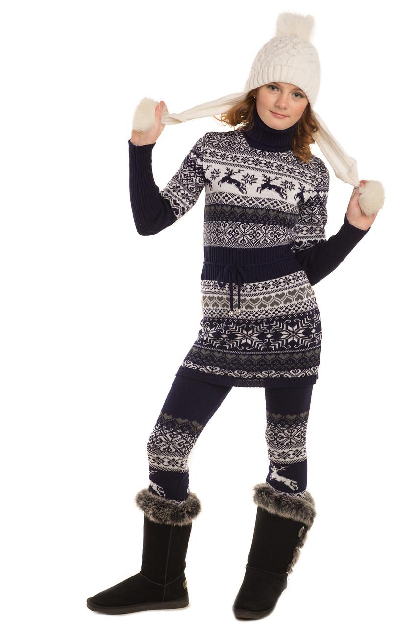 """Платье для девочки """"Лапландия"""", 34, 38, 42 размер"""