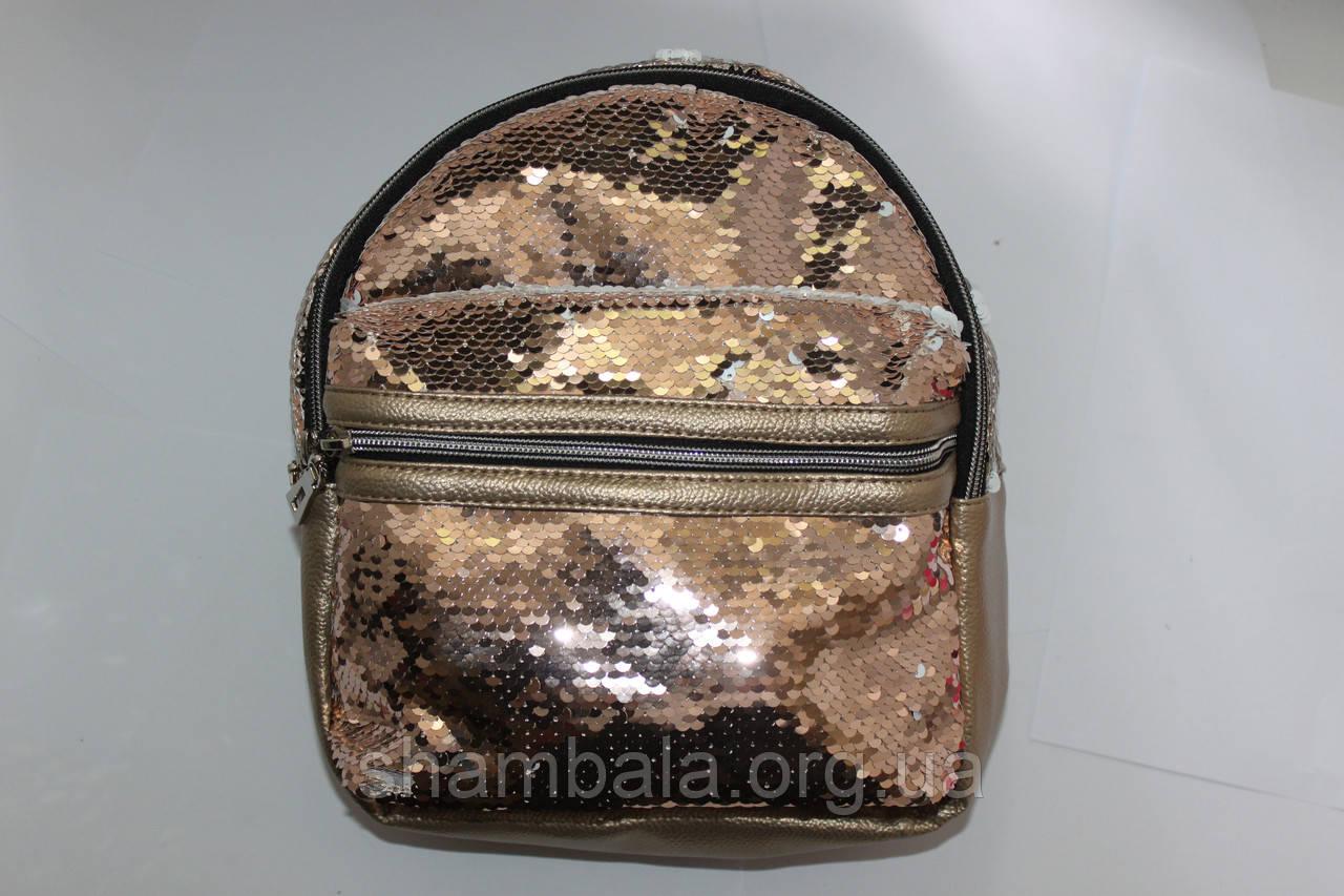 Рюкзак с двойными пайетками
