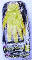 Перчатки женские одинарные с начёсом Желтая рука Пані Рукавичка, чёрные